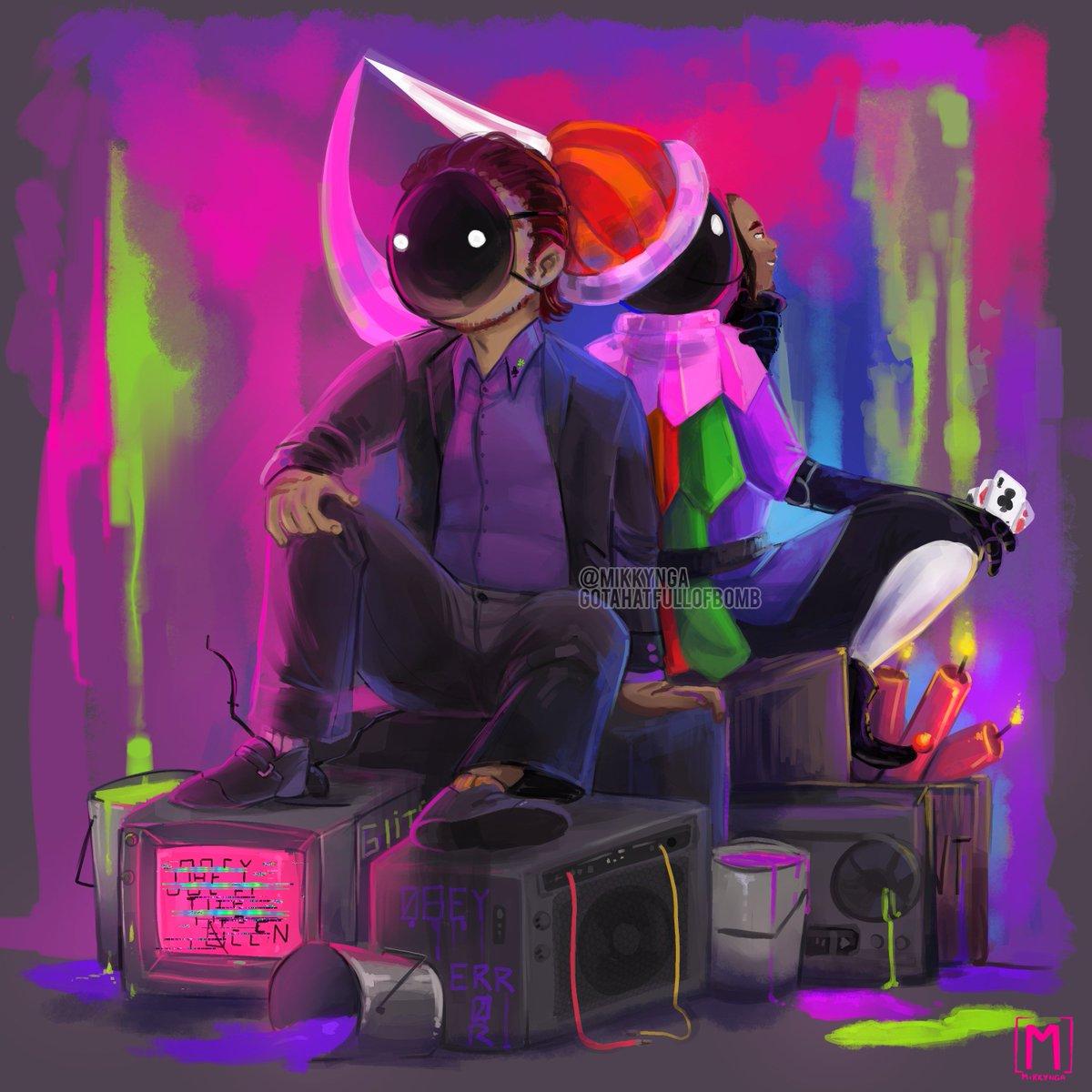 Art for a rp blog i run.  A bunch of feelings my dude.  #homestuck #intermission #clubsdeuce #cd #hs #clipstudiopaint #painting #digitalart #fanart #hsfanart #homestuckfanart #illustration #purple #colors  @ArtePorDoquier_  @Dibujnautas  @ConoceArtistas<br>http://pic.twitter.com/p70FCRmpW7