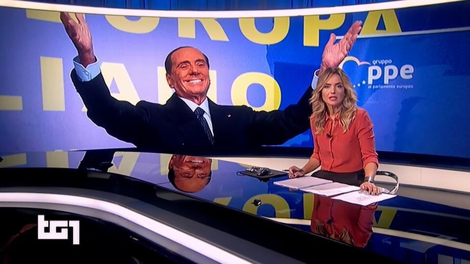 E comunque pure il #Tg1 non scherza con Berlusconi che si vuole candidare alle europee   - Ukustom