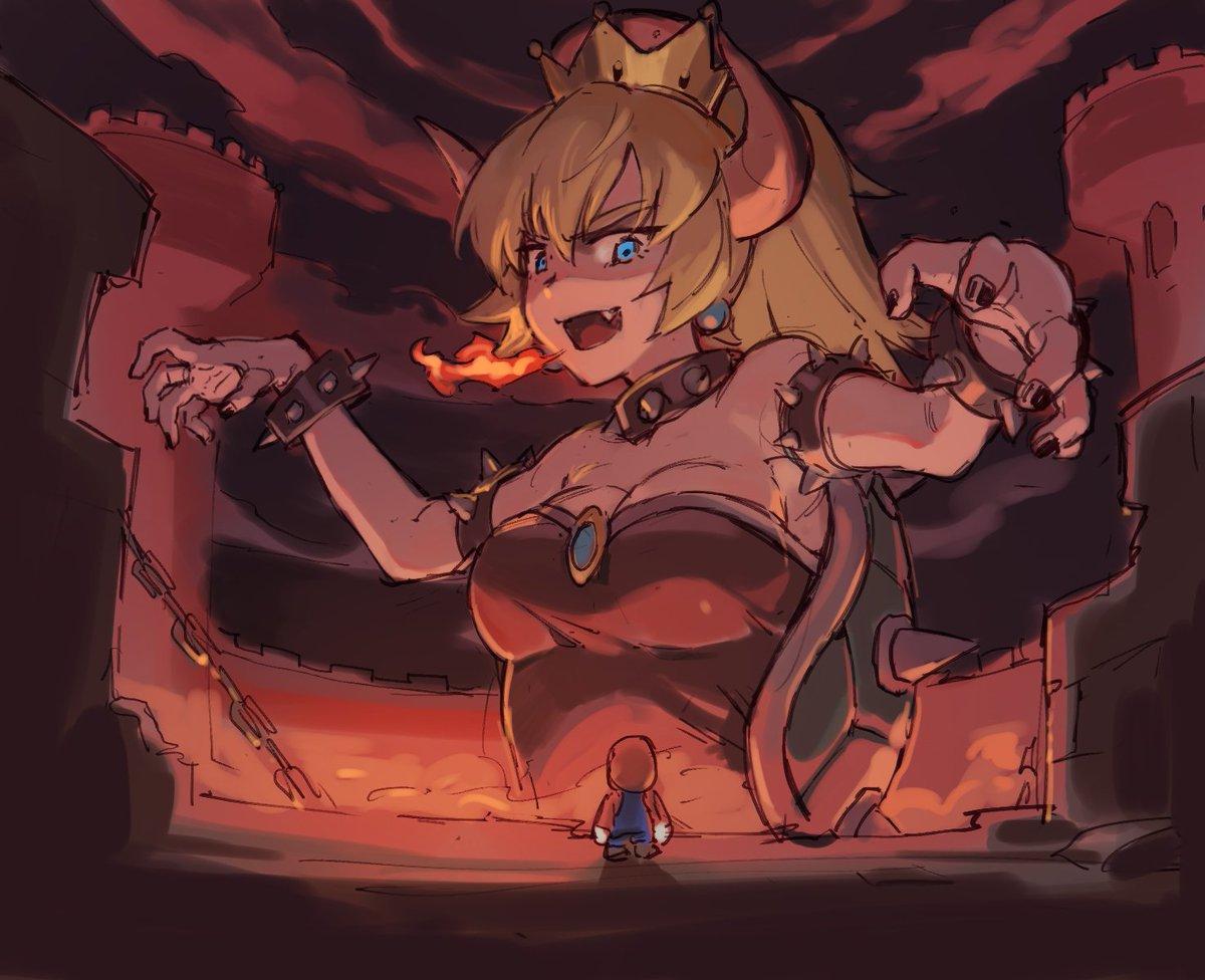 巨大クッパ姫!