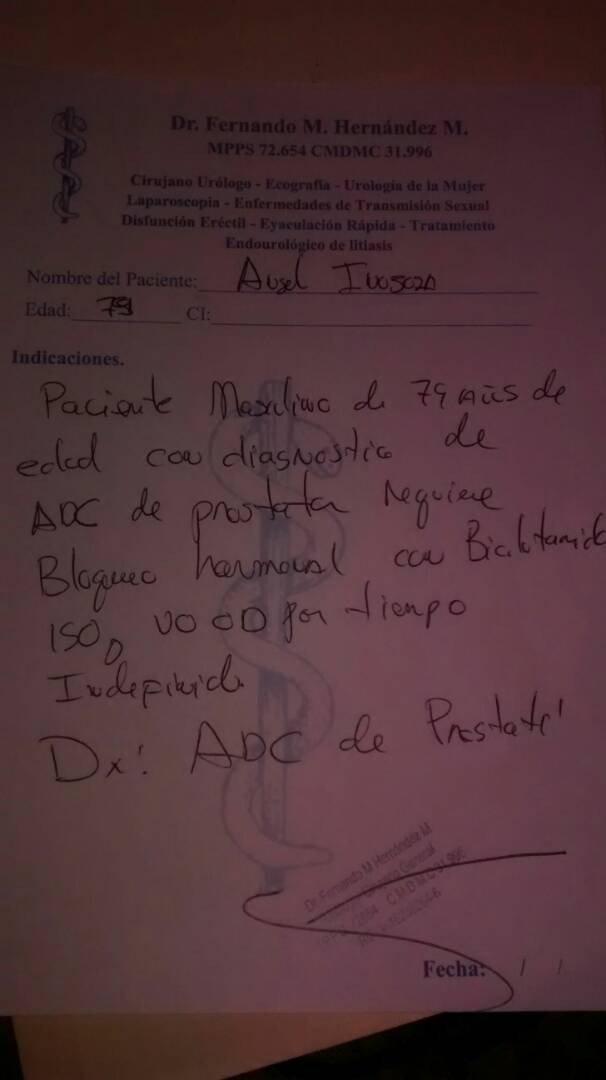 #ServicioPúblico Se necesita con urgencia el medicamento #Bicalutamida en tableta de 150 mg para Ángel Inojosa, paciente oncológico de 78 años de edad, abuelo de la periodista @VictoriaInojosa | Contacto: 04160121725