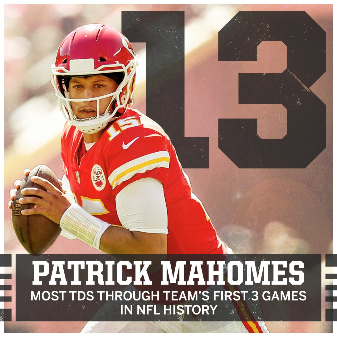 That's history.   Patrick Mahomes is first all-time, passing Tom Brady and Peyton Manning. https://t.co/10GsqNlcip
