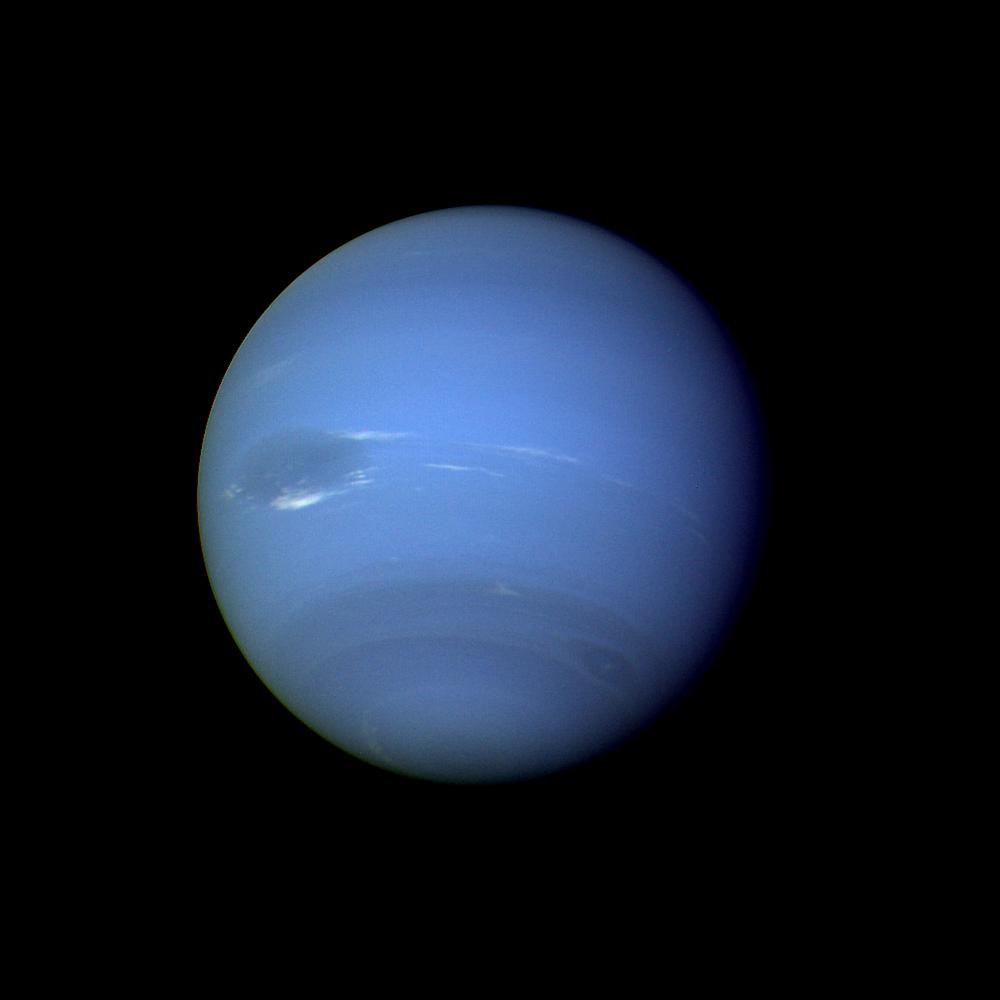 Happy birthday Neptune, discovered #onthisday in 1846 by astronomers Johanne Galle and Urbain Le Verrier. https://t.co/KrKz5YoQyr