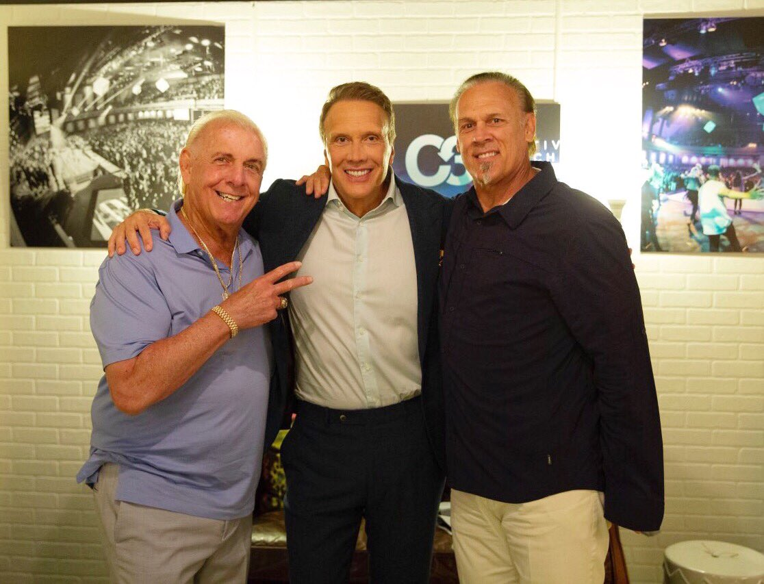 With pastor @EdYoung and @RicFlairNatrBoy this morning @fc!Any Takers for next Sunday? <br>http://pic.twitter.com/z5QpwjOvnG