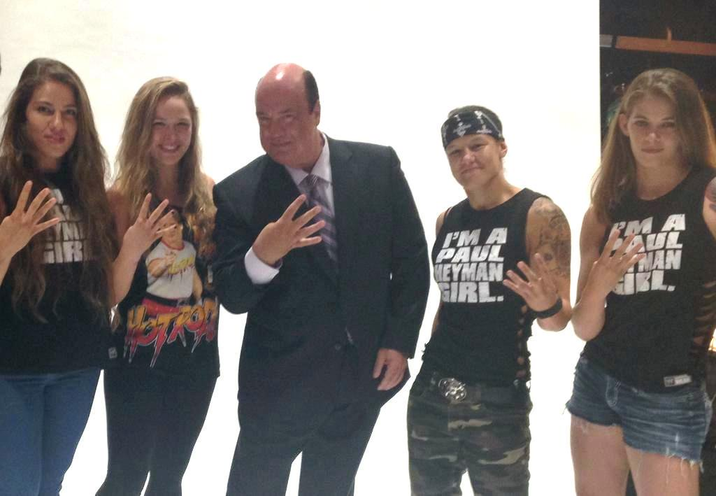 NUFF SAID ???  @HeymanHustle @RicFlairNatrBoy @RondaRousey @jessamynduke @MarinaShafir @QoSBaszler   Natich gave them the title &quot;The Four Horsewomen&quot; FIRST. Now, we just need @VinceMcMahon to sign off on making @HeymanHustle their Manager before WrestleMania<br>http://pic.twitter.com/utlYEdPCLg