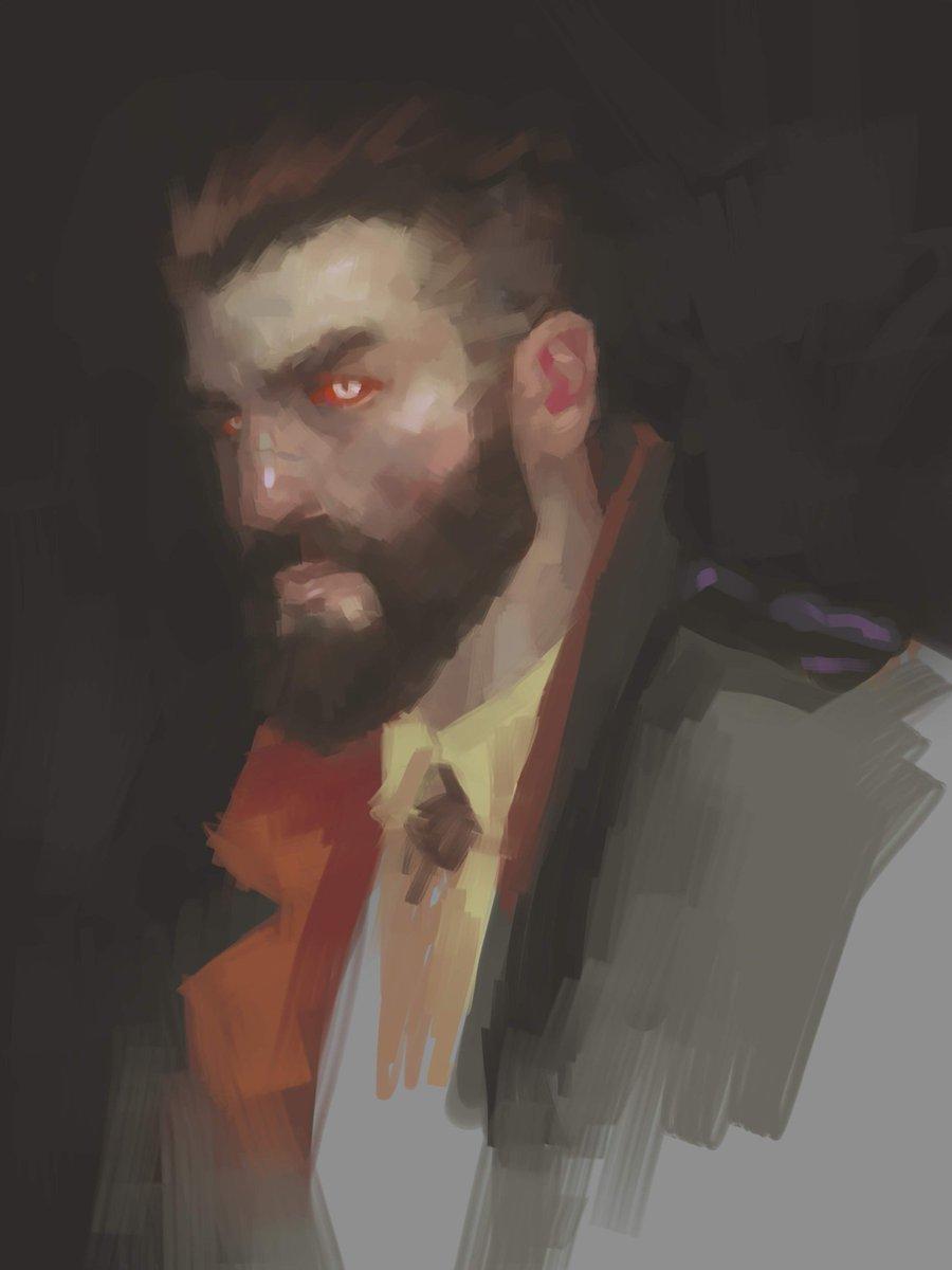 Vampyr portrait. #clipstudiopaint #Vampyr<br>http://pic.twitter.com/t88TX5v0Tm