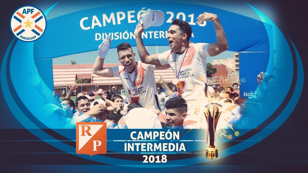 👏🏼 El Club #RiverPlate, es el flamante campeón 🏆 de la #Intermedia y nuevo equipo de Primera División 🏅 Temporada 2019 ⚽️🇵🇾 https://t.co/GB7eVALXnT