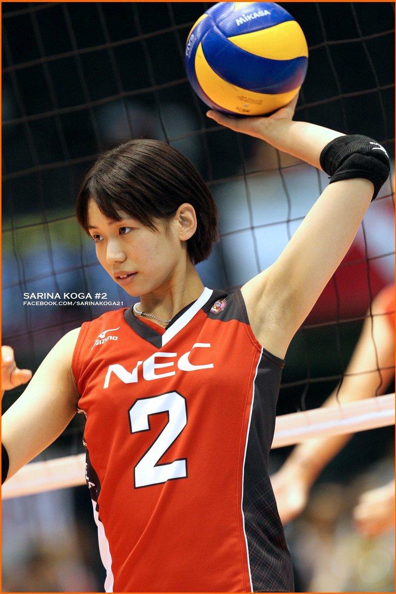 ボールを掲げる可愛い古賀紗理那