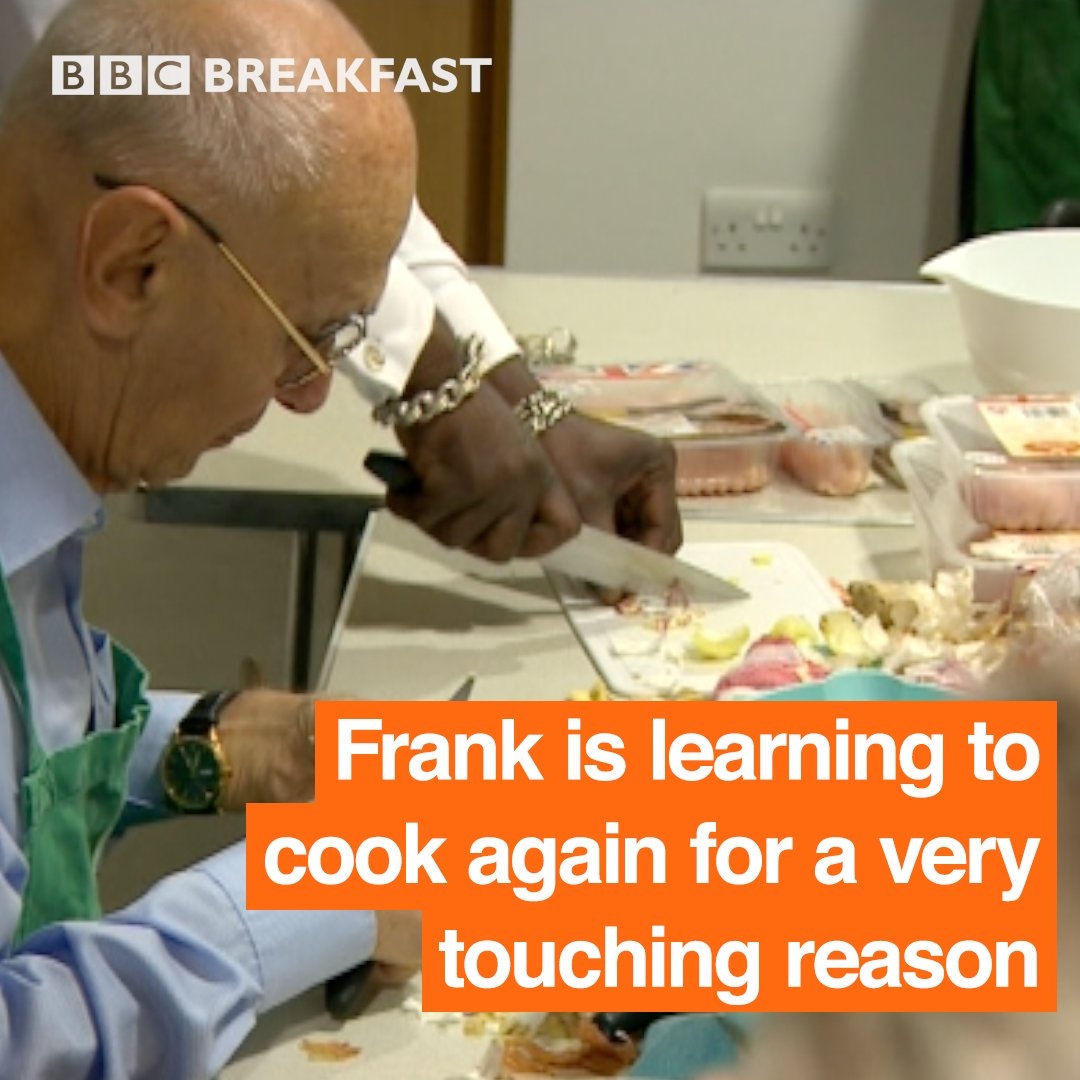 We absolutely love this from @BBCBreakfast - the story of how Frank is teaching himself to cook to support his wife, who's living with dementia: