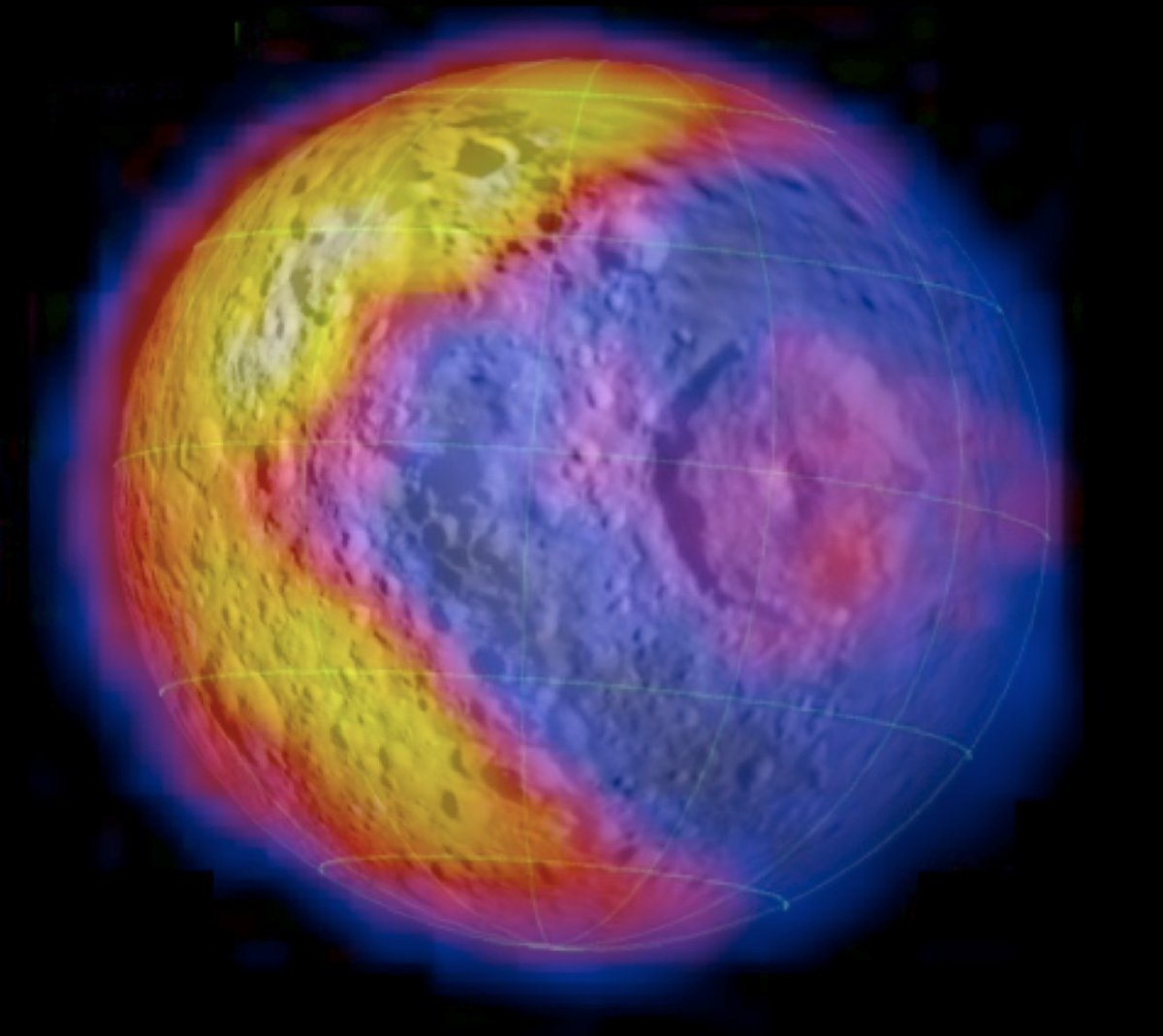 thermal image of Mimas