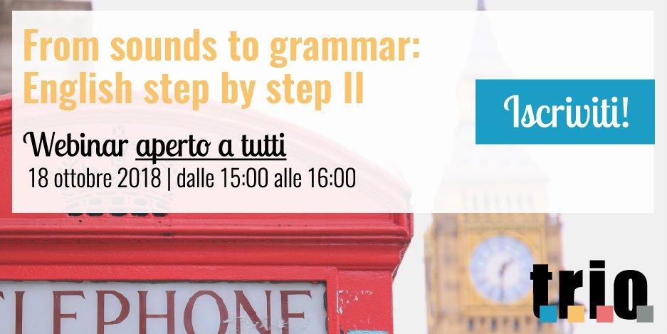 Trio On Twitter In Programma Per Il 18 Ottobre Il Webinar From