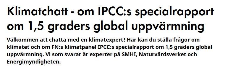 Chatta pa dn se med klimatexperten