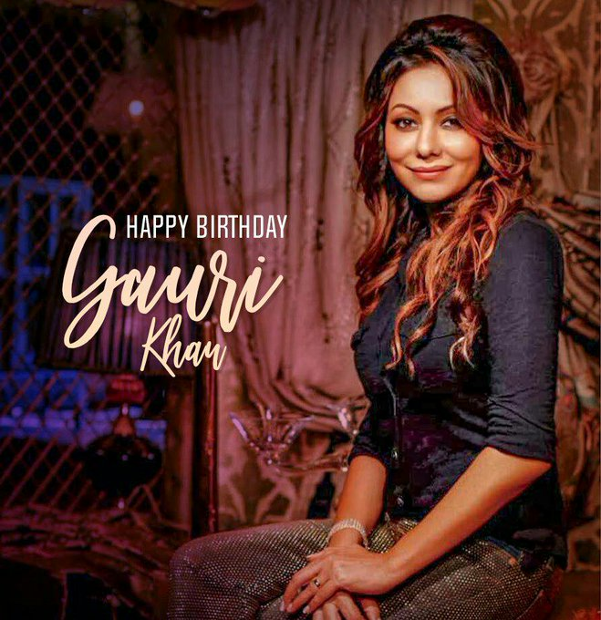 I wish you a very very happy birthday India\s most beautiful Queen girl Gauri Khan...love u mam