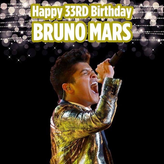 Happy 33rd Birthday to singer Bruno Mars!