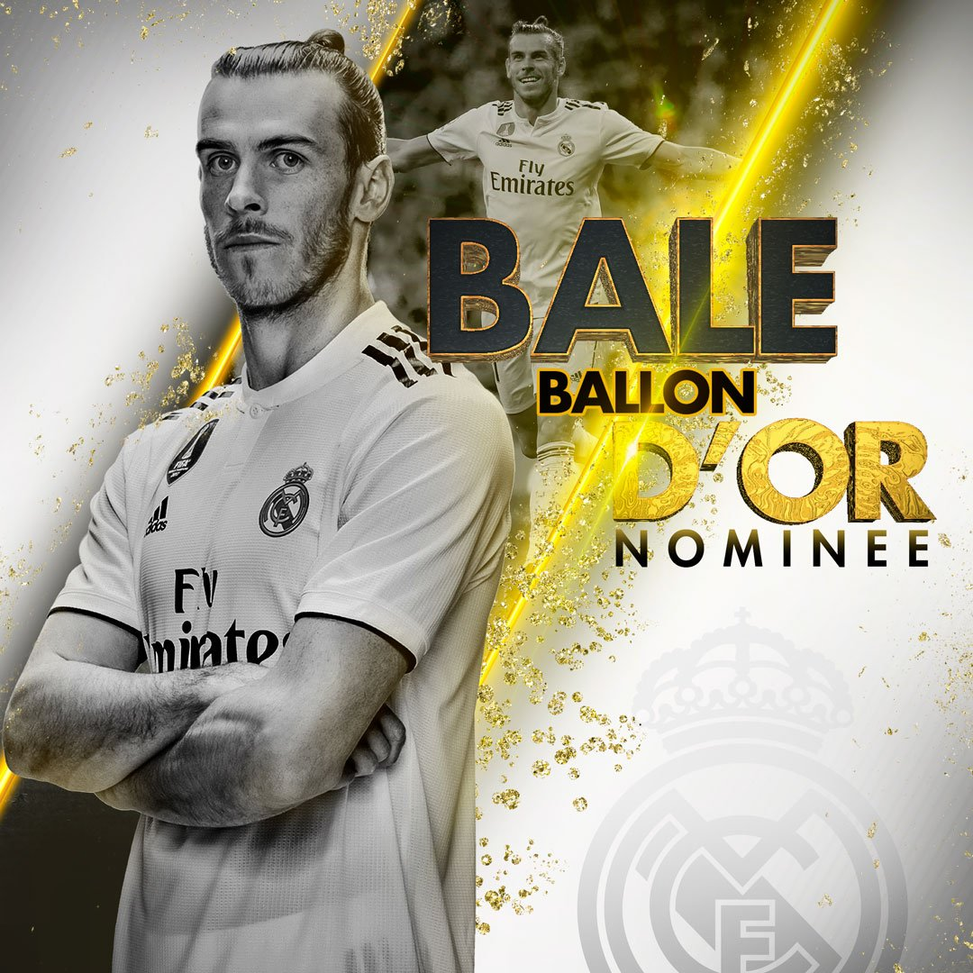 ⚽🏆 BALLON D'OR 2018 NOMINEE 🐲 @GarethBale11 👏 #HalaMadrid | #ballondor