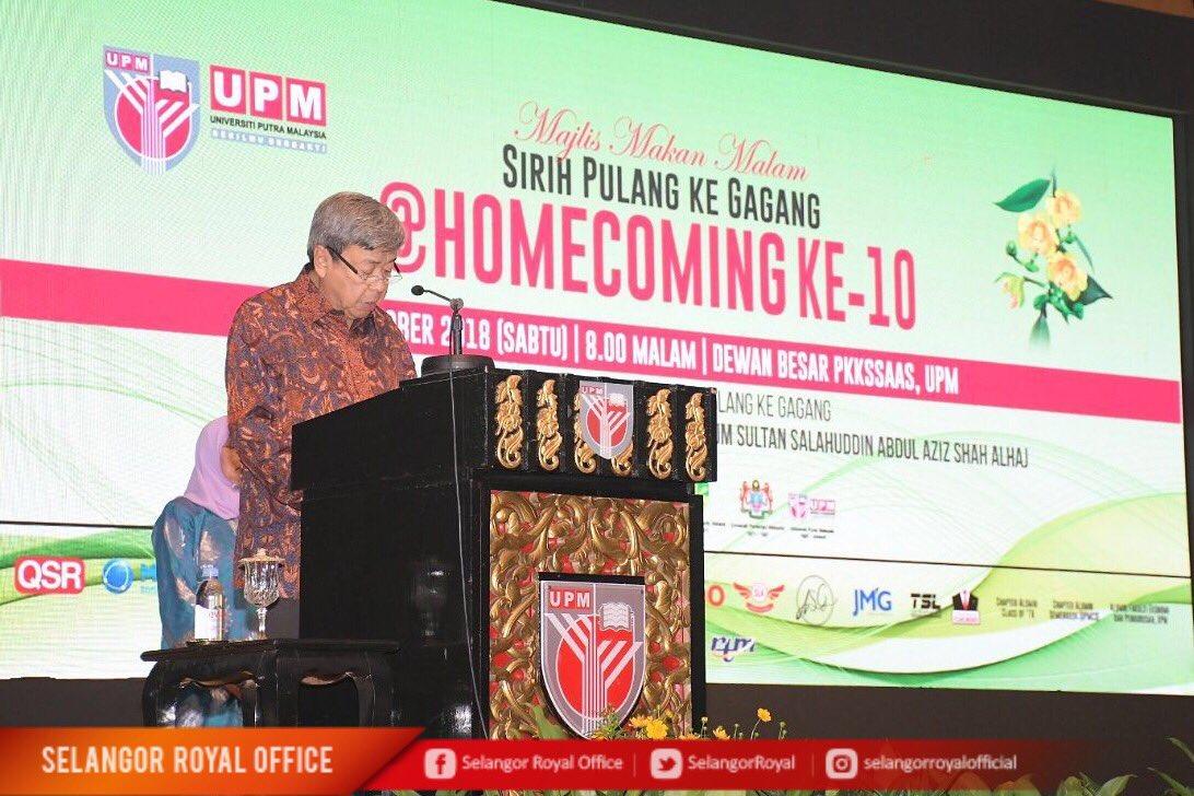 Selangor Royal Office On Twitter 6 Oktober 2018 Dymm Sultan Selangor Berkenan Berangkat Ke Majlis Makan Malam Sirih Pulang Ke Gagang Anjuran Persatuan Alumni Upm Https T Co L29lmlzqnt
