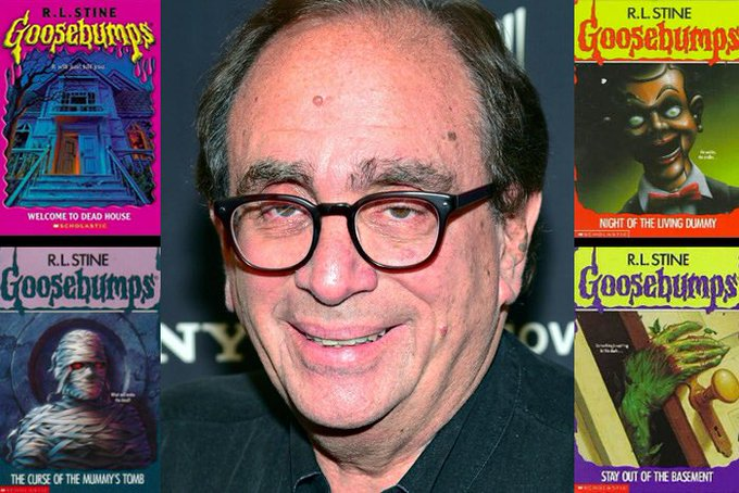 Happy 75th Birthday to R.L. Stine! The author of the Goosebumps books.