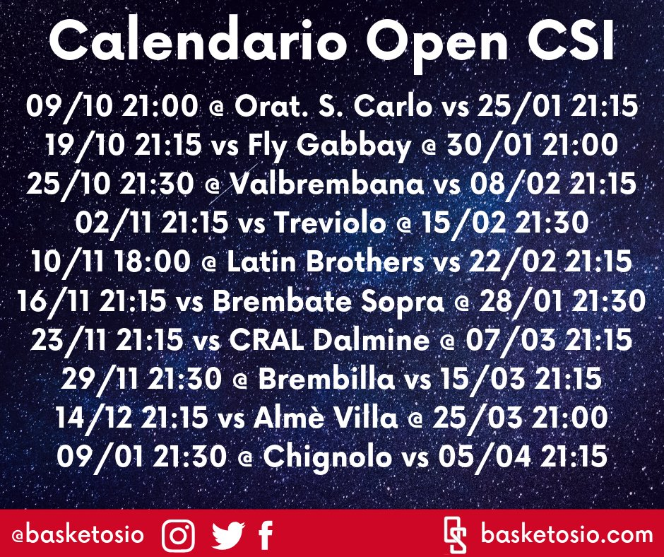 Calendario Csi.Valmbrembana Hashtag On Twitter