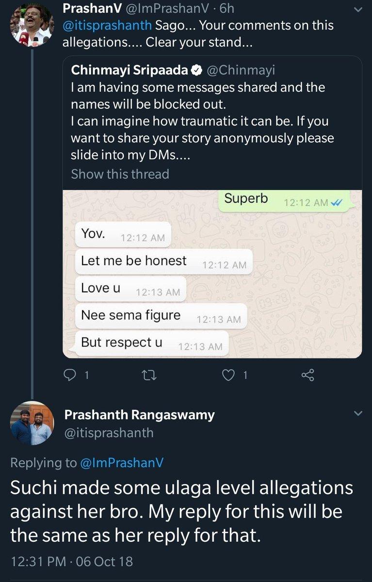 5512e8e427 Chinmayi Sripaada on Twitter