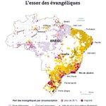 Cartographie des implantations #Evangéliques au #Brésil en 2018 https://t.co/oxpAipfKBN