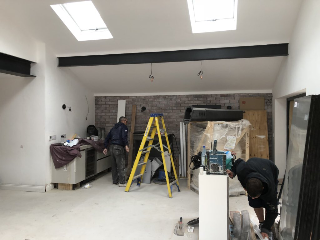 test Twitter Media - Getting the final push underway at our Ainsdale job today - it's an extension with a difference- loft design- concrete worktops, exposed beams, polished concrete floor) - look out for the final images. If you would like a fixed price quote for a design & build job. Get in touch! https://t.co/Iei997jU4l