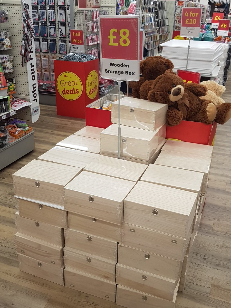 Hobbycraft Romford On Twitter Wooden Storage Boxes Only 8 Perfect