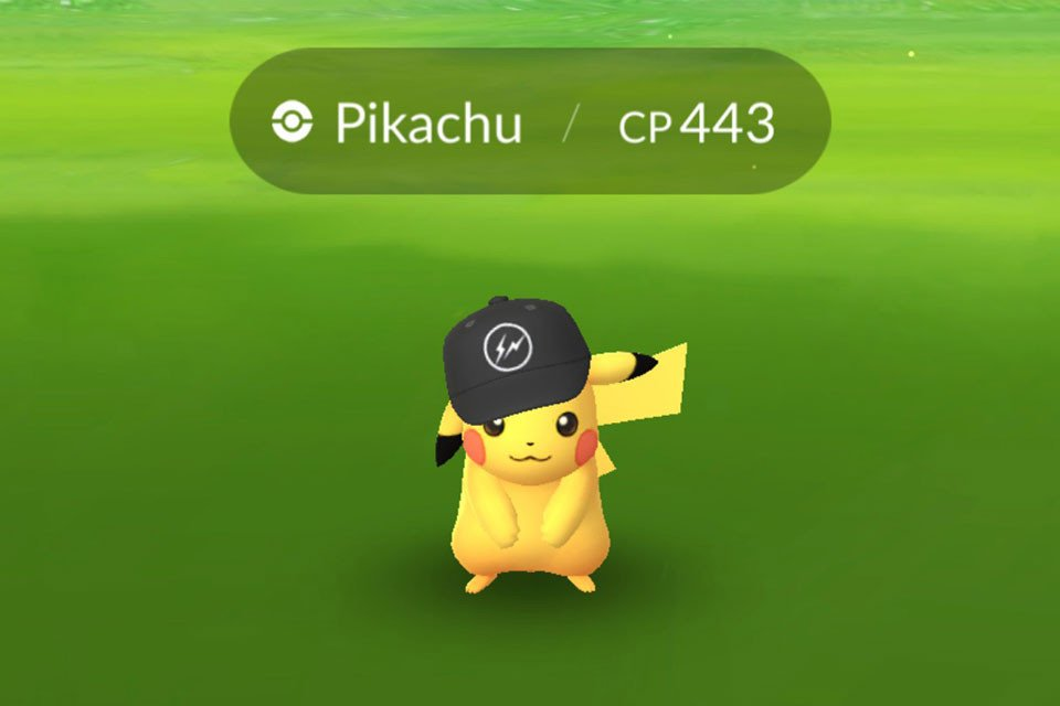 a751824e8c Rare Pikachu wears fragment design hat In new  Pokemon Go  update  https
