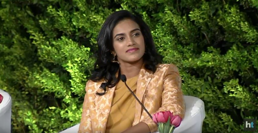 My conversations with Gopi sir are mostly about my game. My goals have always been short term. So, our conversation is mostly about the next day, the next match, the next game. You never know where you are tomorrow so need to focus on small goals, says @Pvsindhu1 at #HTLS2018