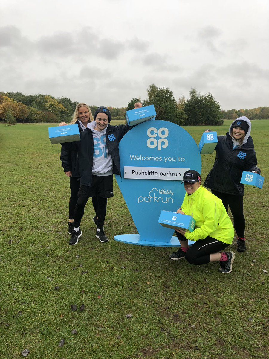 Happy 6th Birthday @rushcliffepr and huge thanks to @coopukfood for the goodies at the finish line. Happy #internationalparkrunday 14 years of the greatness of parkrun #parkrun #loveparkrun #parkrunfamily https://t.co/aUKOfIyOfs