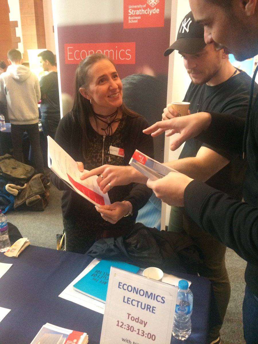 Great to meet see so many young people interested in Economics @UniStrathclyde Open Day.