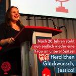 Die Juso-Landeskonferenz hat soeben Jessica Rosenthal mit 79 Prozent der Stimmen zu unserer neuen Vorsitzende gewählt. Herzlichen Glückwunsch! #wessenwelt