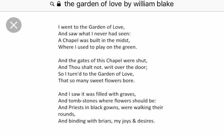 the garden of love poem
