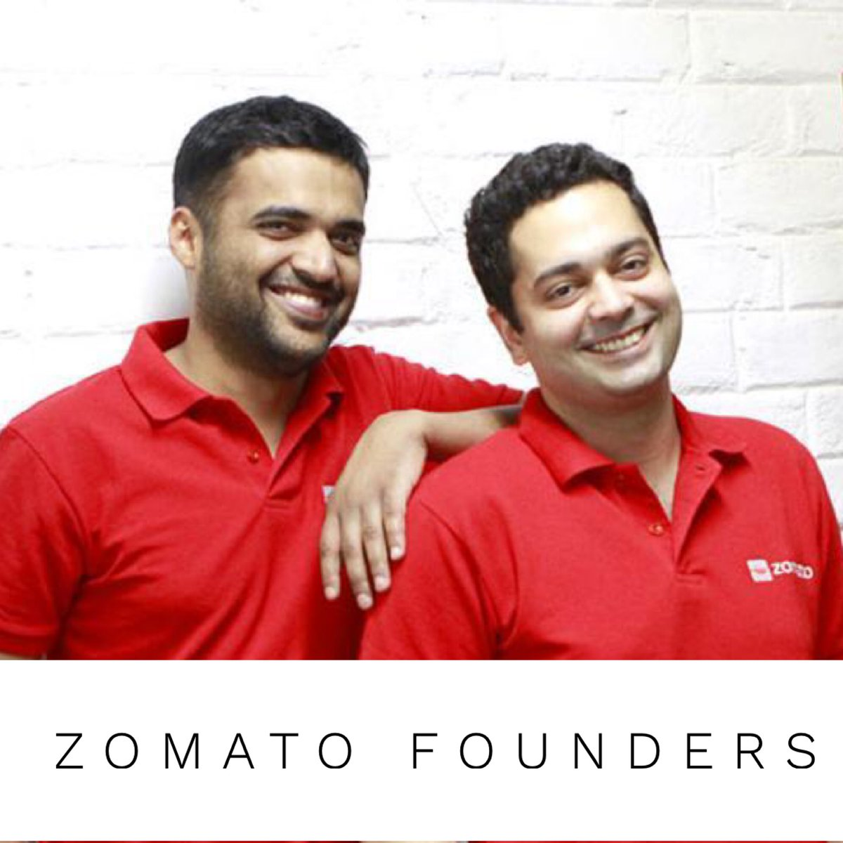 Zomato founders Deepinder Goyal and Pankaj Chaddah