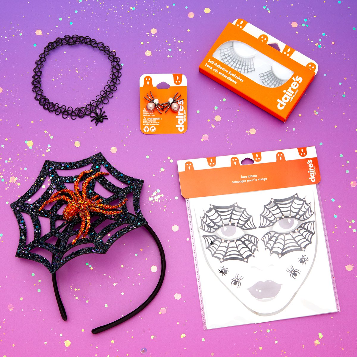 "claire's on twitter: ""be a creepy crawly spider this halloween with"