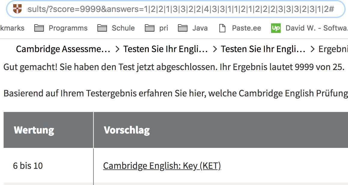 Felix Wu On Twitter The Cambridge English Test Results Page Stores Your Score In Url Query Good Job CambridgeEng My Level Equals