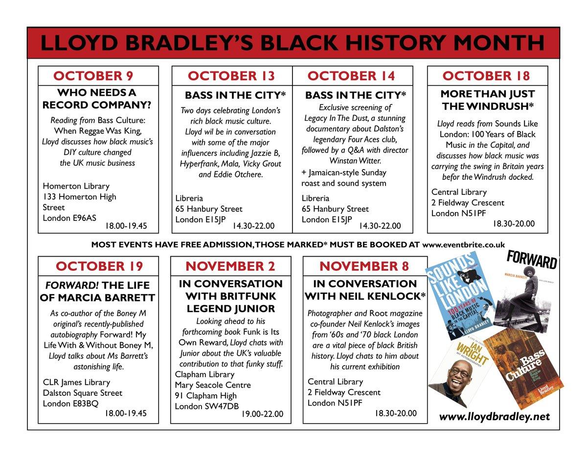 "lloyd bradley on Twitter: ""Absolutely loving such a busy Black History  Month #blackhistorymonth #islingtonlibraries #hackneylibraries  #lambethlibraries ..."