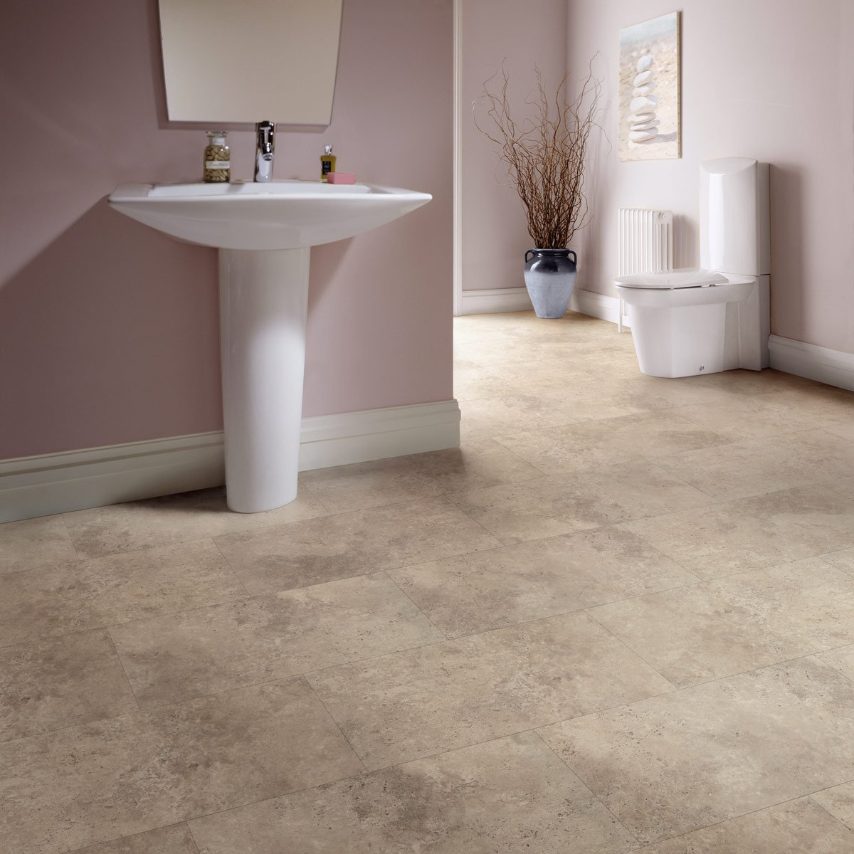 ... the Karndean Palio Clic Stone Tile vinyl flooring is perfect for the bathroom. http://ow.ly/TAXP30m7gpC #bathroom #bathroominspo #dreambathroom ...