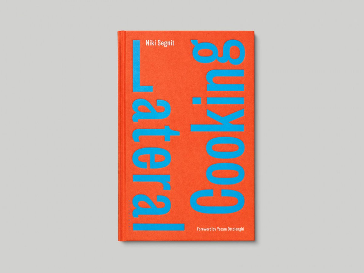 .@realnikisegnit's new cookbook Lateral Cooking has been designed by @practiceveryday; featuring a bold typographic cover, over 400 illustrations of ingredients and a three-colour palette. Not a single photograph of food!  http:// bit.ly/2NVxaCR     <br>http://pic.twitter.com/y2f0DBySYI