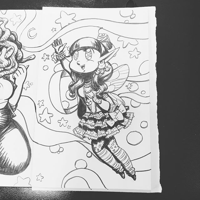 #Inktober day 4! (Don't worry, I'll get caught up this weekend!) . #art #artistsoninstagram #character #characterdesign #illustration #charactersketch #agenderartist #pencil #ink #fairy #faerie #fairykei #https://ift.tt/2E0cPHK pic.twitter.com/BoaqynOXpt