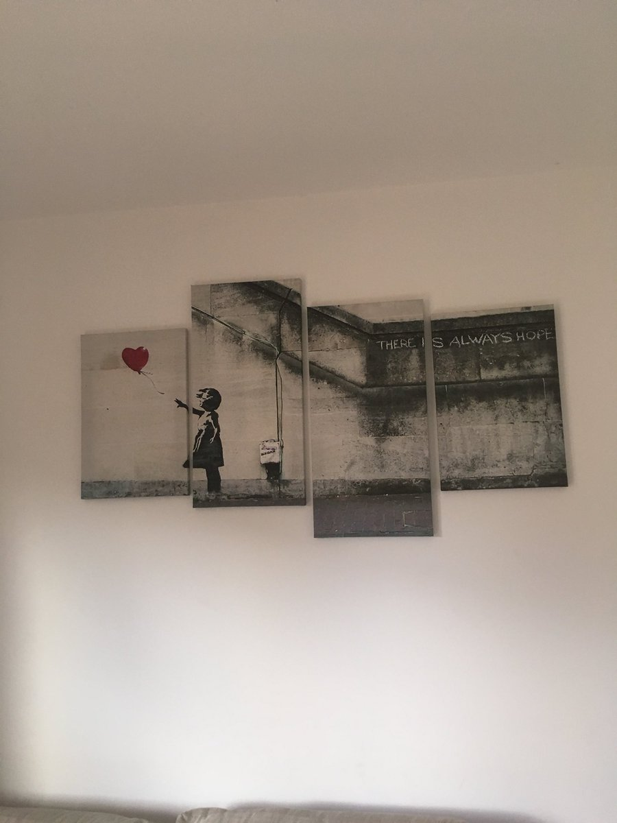 I don't see what the big deal about #Banksy is. I 'shredded' mine into 4 pieces 3 years ago #stolemyidea