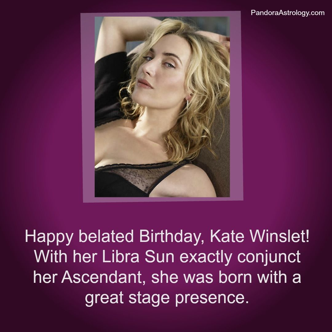 Happy belated Birthday, Kate Winslet!