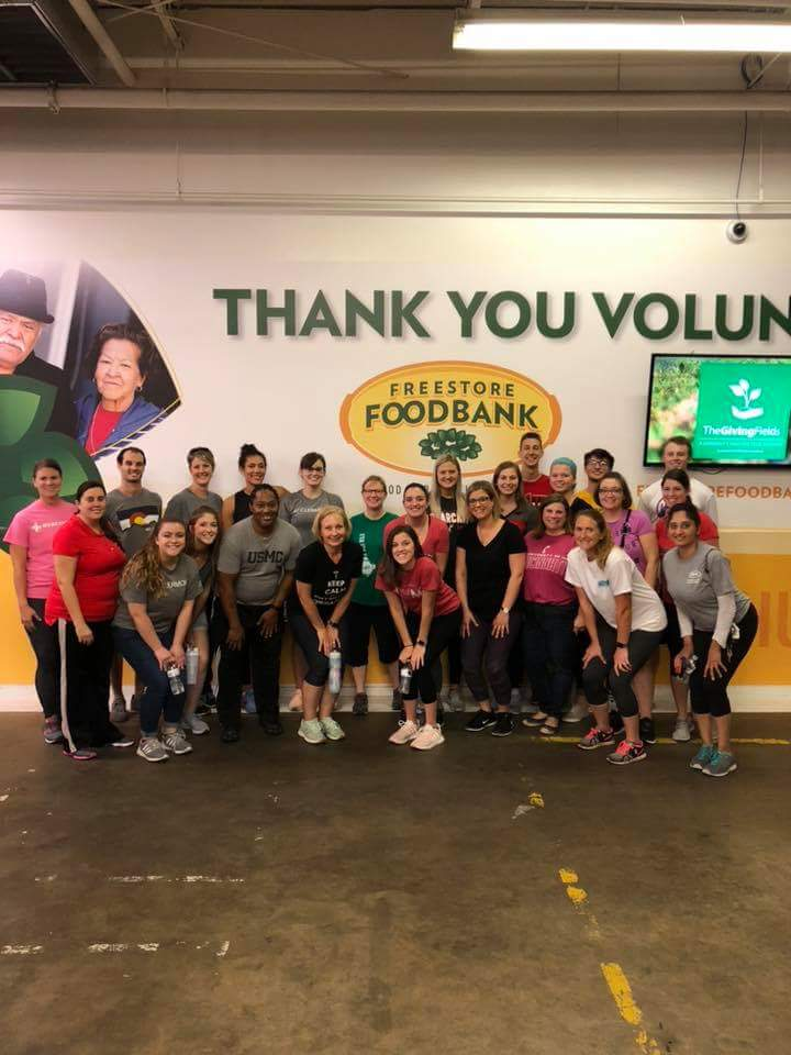 Way to go, Southwest District of the Ohio Physical Therapy Association! Thirty volunteers made 2000 food packs for local children in need at Freestore Foodbank! #ptdos #opta #choosept