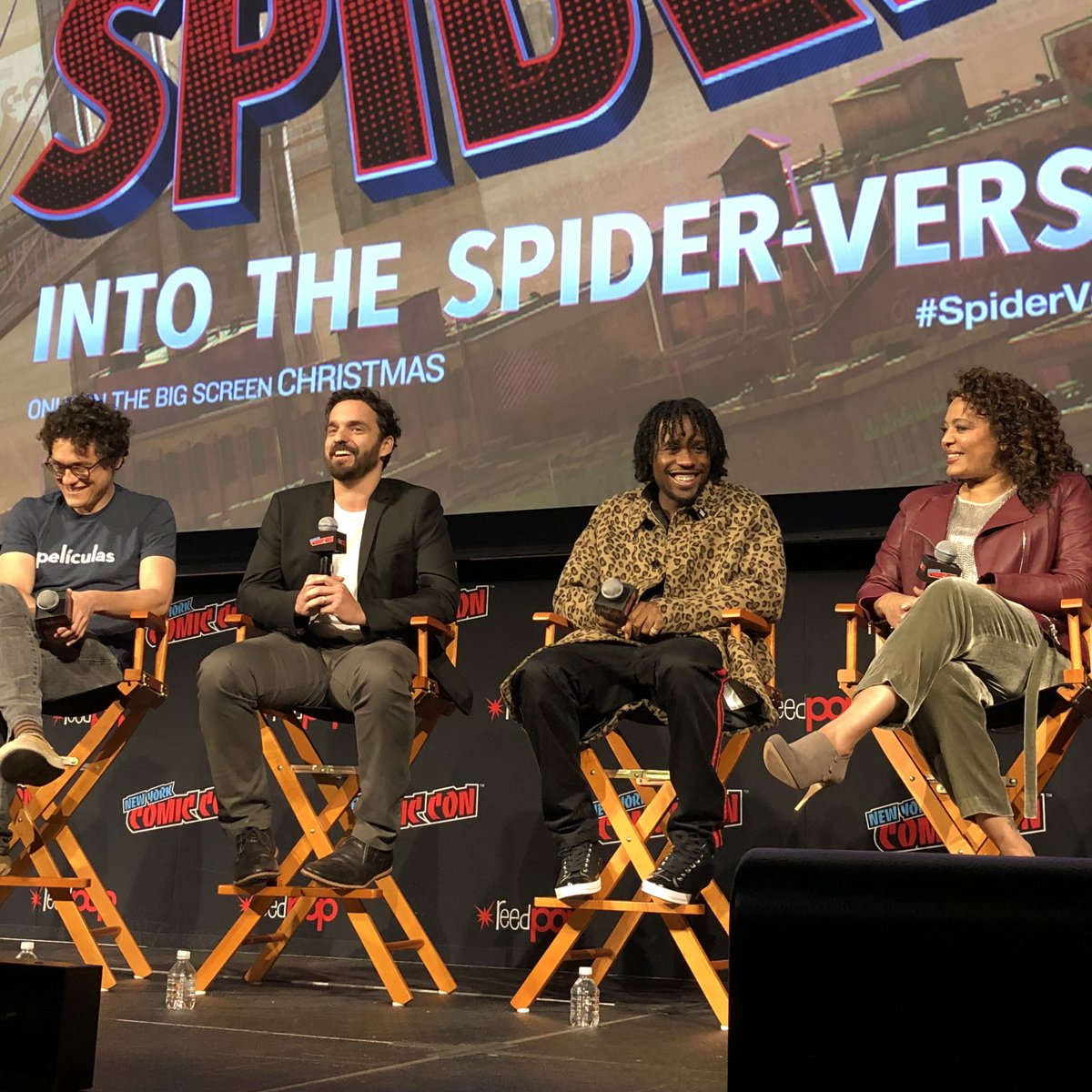 #NYCC enters the #SpiderVerse with the cast and filmmakers! Check out more from today on @SonyPictures' Instagram Story! https://t.co/82bpy8wKjQ