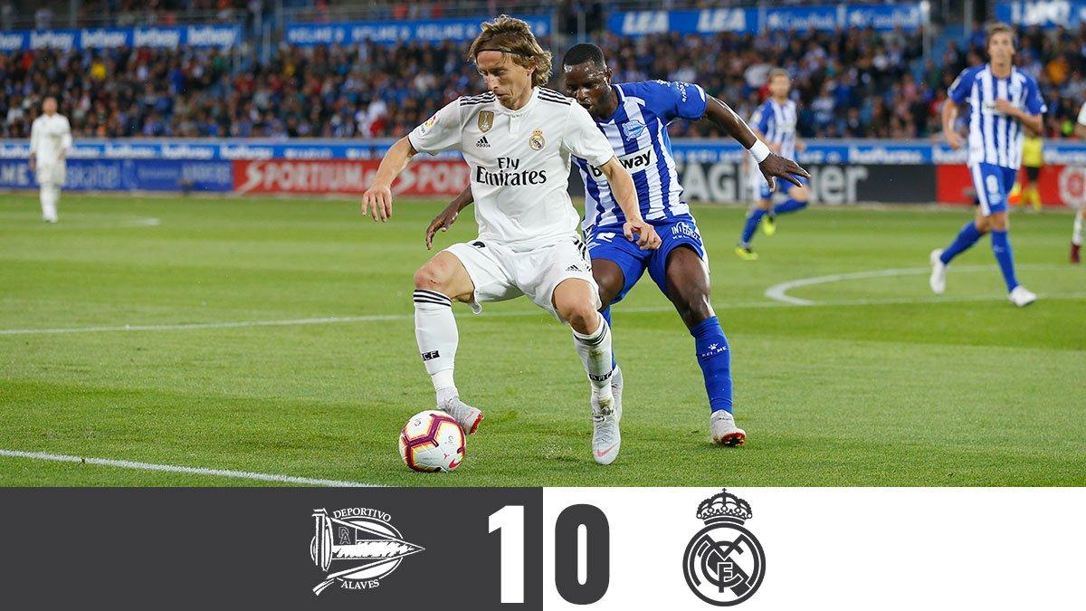Chấm điểm kết quả Alaves 1-0 Real Madrid