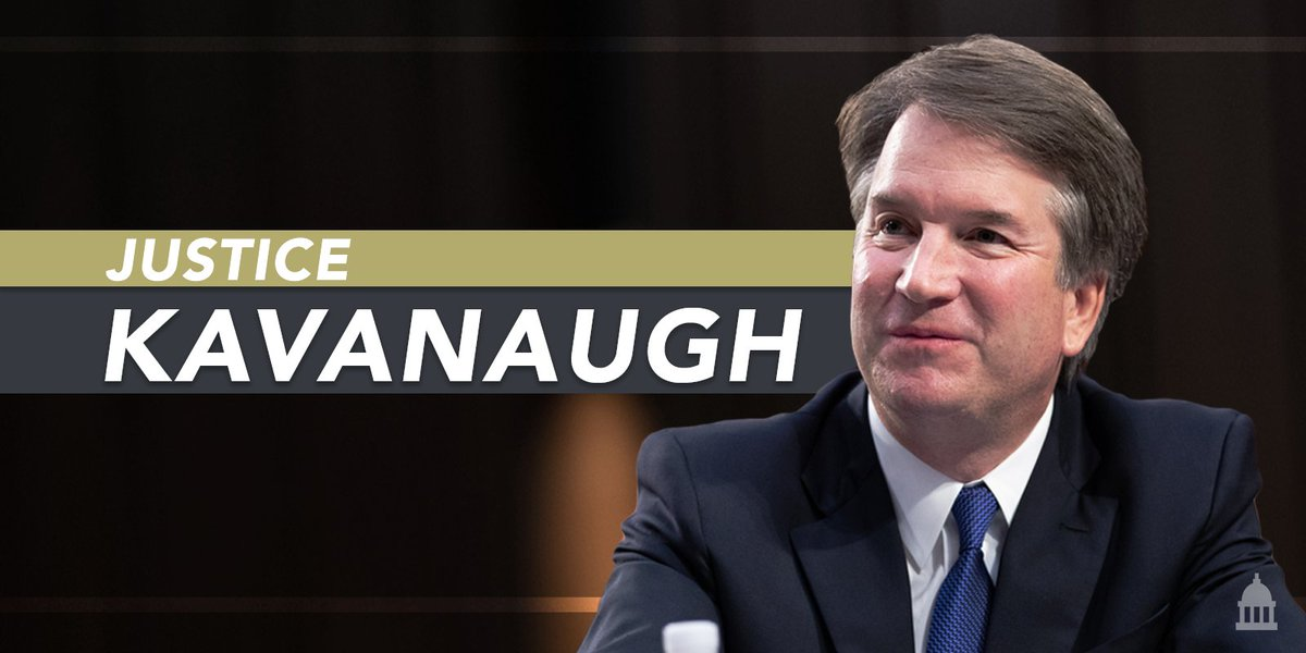 From judge to justice.   Congratulations, Justice Kavanaugh. #JusticeKavanaugh