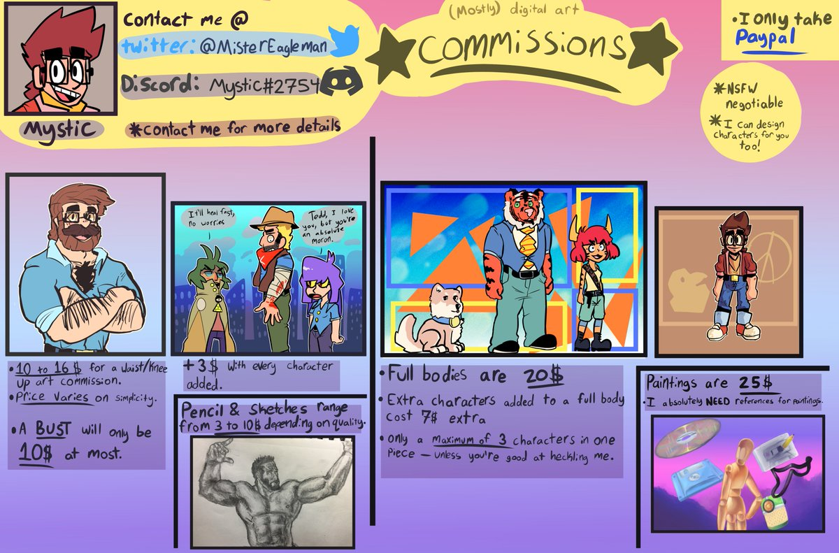 Mr Eagleman On Twitter Commissions Open No Slots Or Anything