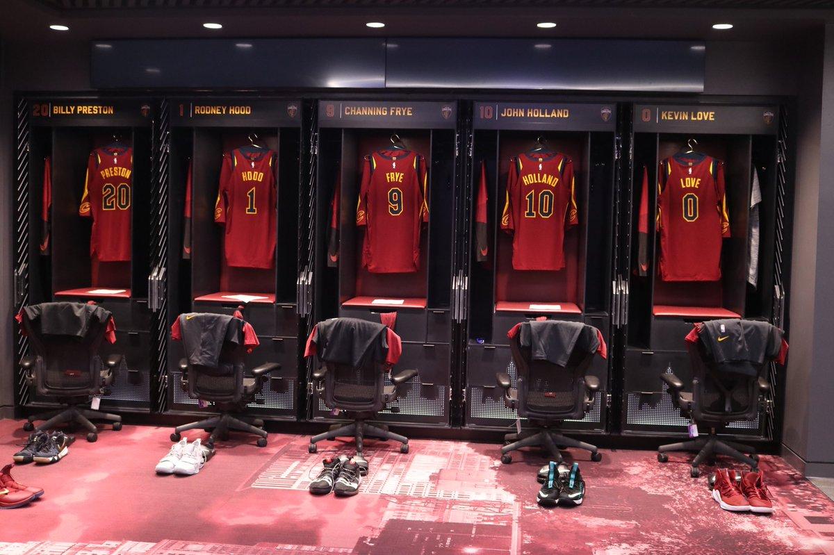 Beautiful locker room action