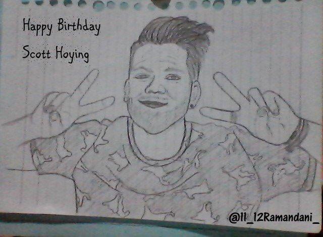 Happy Birthday Scott Hoying sketch by
