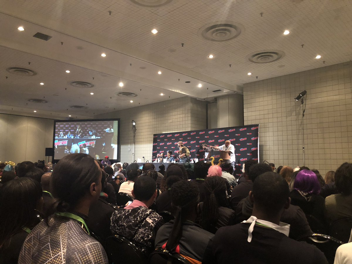 "Getting ready to see ""Black Heroes Matter"" @NY_Comic_Con"