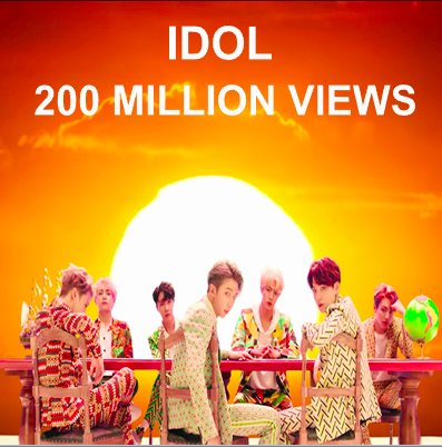 #BTS's #IDOL MV Becomes The Group's 11th Video To Reach 200 Million Views!👏🎞️2⃣0⃣0⃣💥🕺🕺🕺🕺🕺🕺🕺👑 https://t.co/seDpAPGZRU