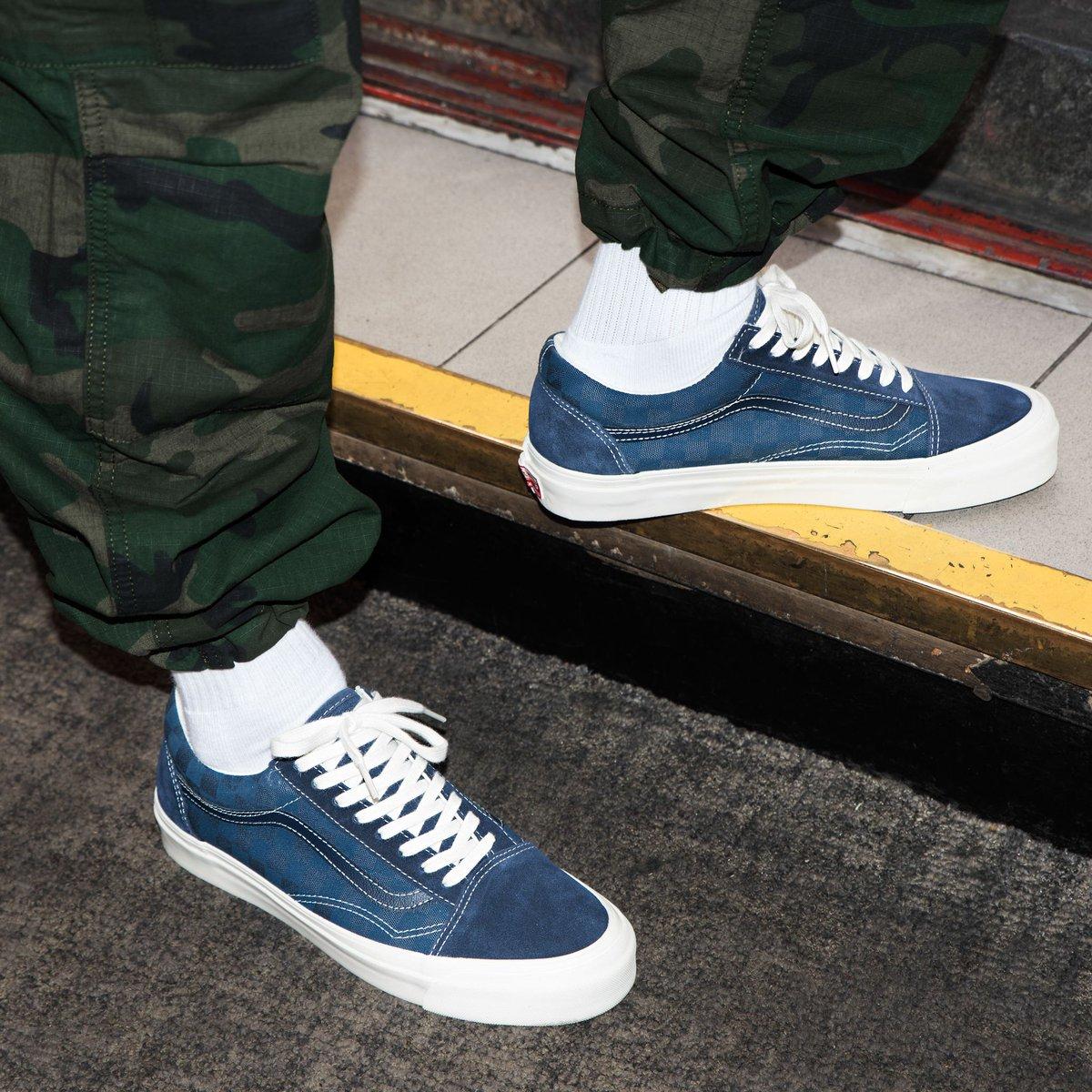 30ff08a91c Vans Vault OG Old Skool LX Checkerboard Majolica Blue Wear Vietnam